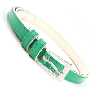 Sweetness-Cute-buckle-Multy-Candy-color-PU-leather-Thin-Belt