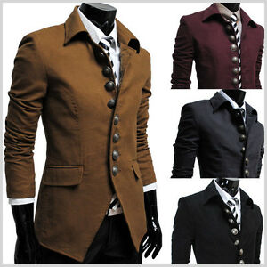 737-THELEES-Mens-Casual-Luxury-8-Button-slim-fit-Blazer-Jacket