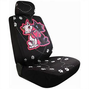 2 New Good Bad Cat Universal Bucket Seat Covers Car Truck