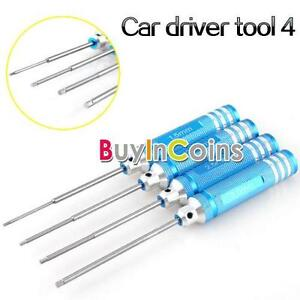 New 4Pcs Hex Screwdriver For RC Helicopter Plane Car Screw Driver Tool Kit Set