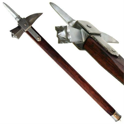 Medieval Functional Knights Spiked Lucerne 13th Century Carbon Steel War Hammer