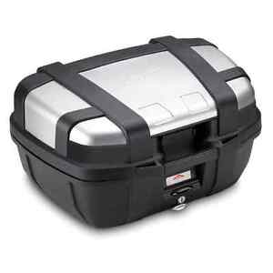 GIVI TREKKER CASE 52L TOP BOX TRK52N TOP CASE GIVI LUGGAGE PANNIER ALUMINIUM 52L