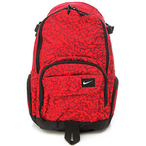 BN-NIKE-Unisex-ALL-ACCESS-FULLFARE-Backpack-Book-Bag-in-Red-Graffiti-Pattern