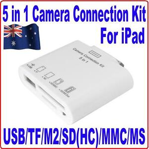 5-IN-1-USB-Camera-Connection-SD-TF-M2-MMC-MS-Card-Reader-Adapter-Kit-4-iPad1-2