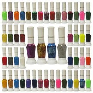 50PCS-Color-False-Nail-Art-Tips-Two-Way-Pen-Varnish-Polish-Brushes-Set-New