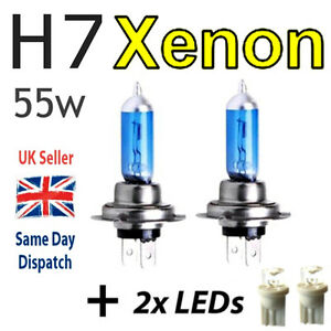 H7-55w-SUPER-WHITE-XENON-499-Head-Light-Bulbs-12v