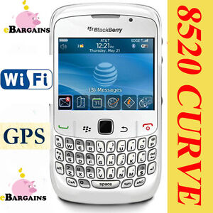 NEW-RIM-Blackberry-8520-Curve-UNLOCKED-WHITE-Cell-Phone-AT-T-Smartphone-Mobile