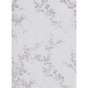WHITE BROCADE EMBROIDER CHERRY BLOSSOM 36