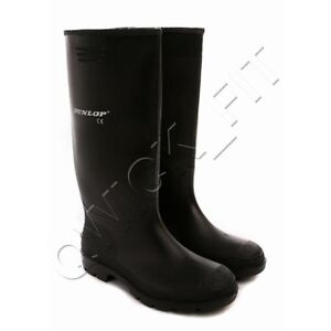 MENS LADIES BOYS DUNLOP WELLINGTONS SNOW BOOTS WELLIES RUBBER SHOES SIZE 3-12UK