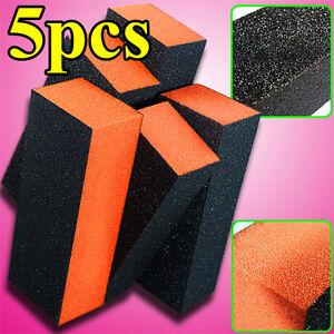 5X-3ways-Manicure-Care-Nail-Art-Acrylic-Polish-Varnish-Sanding-Sand-Block-Files