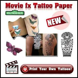 Movie fx temporary tattoo transfer paper ebay for Tattoo transfer paper