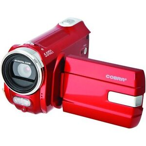 Cobra-DVC910-4-in-1-Digital-Video-Camera-Camcorder-Webcam-RED
