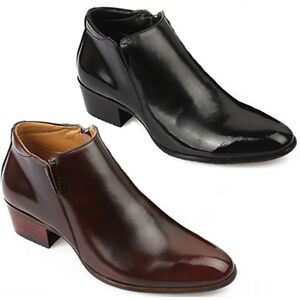 New-Mens-Dress-Leather-Shoes-Formal-Casual-Black-Brown-Ankle-Boots-Deluxe