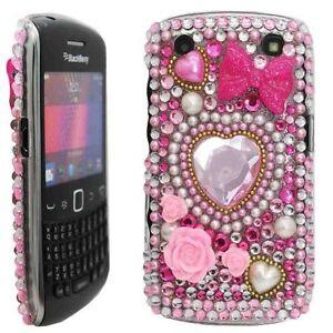 Bling Diamond Diamante Crystal Gem Case Cover for Blackberry 9220 9320 Curve UK