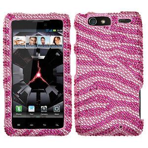 For-Motorola-DROID-RAZR-MAXX-Crystal-Diamond-BLING-Case-Phone-Cover-Pink-Zebra