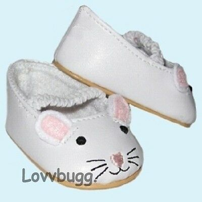 "Lovvbugg CUTE Bunny Mary Janes for 15"" - 18"" American Girl n Bitty Baby Doll Shoes"