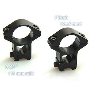 2 pieces 25.4mm x 11mm rifle scope high ring mounts 1