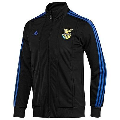 fbe72ab4d NWT~Adidas UKRAINE Soccer Footabll EURO CUP Track jersey Sweat shirt Top ...