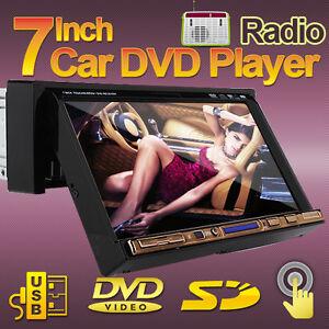 In-Deck-7-TouchScreen-1-Din-Car-Stereo-DVD-Player-FM-USB-SD-Radio-USA-Warranty