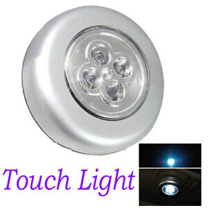 4 led stick tap touch light car interior night reading lamp battery powered new ebay. Black Bedroom Furniture Sets. Home Design Ideas