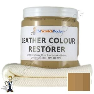 BEIGE Leather Dye Colour Restorer For Faded And Worn Leather Sofa Etc EBay