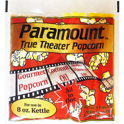 8oz - Case of 24 Individual 8 Ounce Popcorn Portion Packets Kit Packs