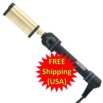 Hot Tools Professional 24k Gold Pressing Straightening Flat Comb Iron 1150 Cord