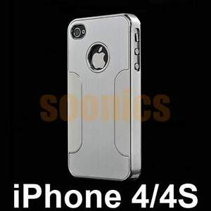 Metal Steel Aluminum Chrome Deluxe Hard Case Cover Protector For iPhone 4 4G 4S