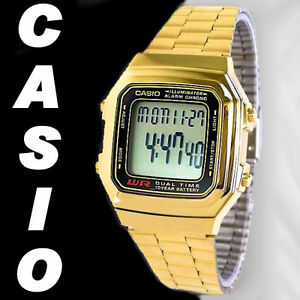Casio-A178WGA-1A-A178WGA-Men-Gold-Tone-Stainless-Steel-Digital-Watch-FreeShip