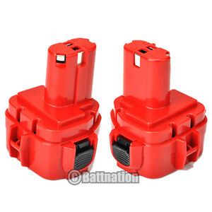 2 x New 2.0AH 12V Battery for Makita 1220 1222 1233 1234 192681-5 192696-2