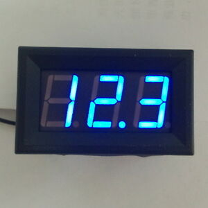 Digital MiNi 4.5-30V Blue LED Car Auto Voltmeter Voltage Volt Panel Meter