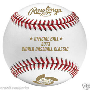 2013 WBC WORLD BASEBALL CLASSIC RAWLINGS OFFICIAL LEATHER GAME BALL