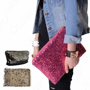 NWT-3-Colors-Sequins-Shine-Bling-Evening-Party-Bags-Clutch-Handbag-Purse-Wallet