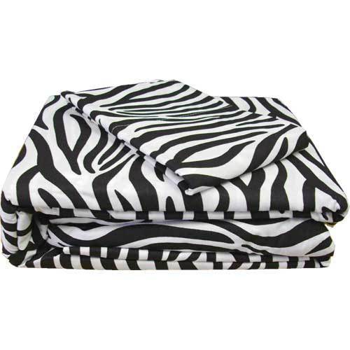 New 3pc Zebra Stripe Twin Sheet Set Safari Animal Print Bedding Single Bed