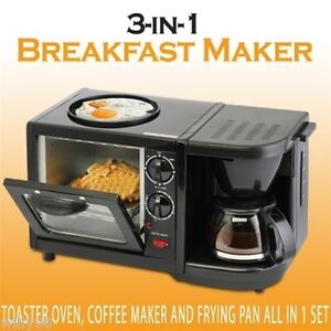 smart planet toaster oven coffee maker and frying pan all in one breakfast maker ebay. Black Bedroom Furniture Sets. Home Design Ideas