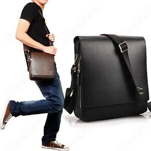 MENS BRIEFCASE PORTFOLIO KANGAROO LEATHER CROSS BODY MESSENGER SHOULDER BAG