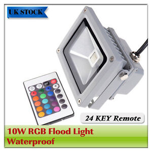 10W-LED-Floodlights-RGB-Garden-SMD-Waterproof-flood-wash-light-lamp-IP65-outdoor