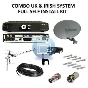 UK & Irish Combo HD - Satellite & Terrestrial FREE TV SYSTEM -Saorview & Freesat