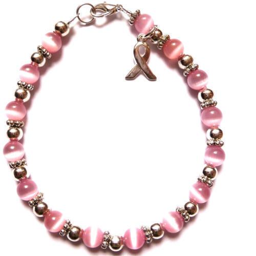 Bracelet-Breast-6mm Packaged Breast cancer awareness