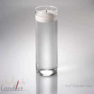 Glass Cylinder Floating Candle Vase 10 5 Inch
