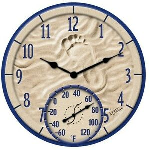 Large 14 034 outdoor pool patio garden wall clock for Garden treasures pool clock