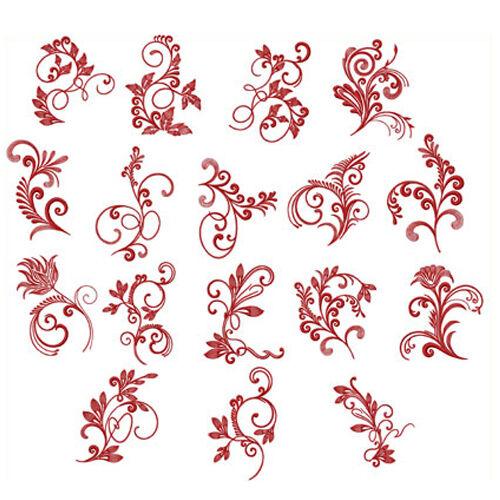 Abc Designs Spirited Herbarium 17 Machine Embroidery Designs Set For 5x7 Hoop