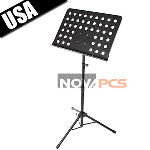 Music-Conductor-Sheet-Tripod-Folding-Stand-Holder-For-Musicians-Tilting-Feature