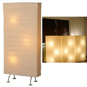 Large rice paper floor lamp mood moody light room space for Wide paper floor lamp