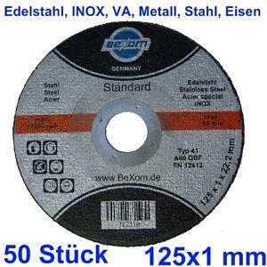 50-Trennscheiben-125x1mm-INOX-125-x-1-mm-Trennscheibe-Edelstahl-50x