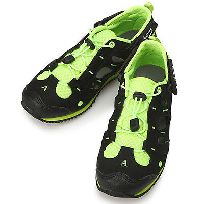 New Mens Shoes Aqua Sports Casual Athletic Running Sneakers Black Green US 10