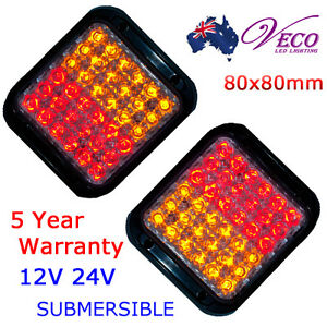 LED-TAIL-LIGHTS-BOAT-VAN-UTE-CARAVAN-TRAILER-INDICATOR-SUBMERSIBLE-MULTIVOLTAGE