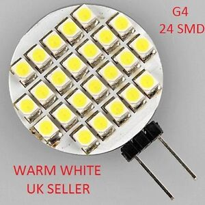 G4-24-SMD-LED-Marine-Camper-Bulb-Lamp-12V-Warm-White-Light-Car
