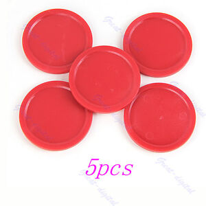 New-5pcs-Red-Air-Hockey-Table-Mini-Pucks-50mm-2-Puck-Children