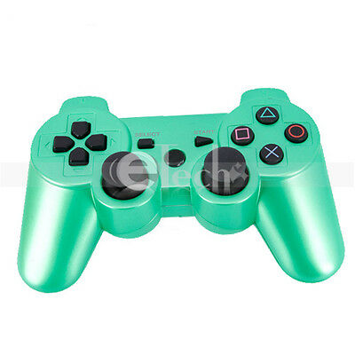 Wireless Bluetooth Game Controller for Sony Playstation 3 PS3 Green on Rummage